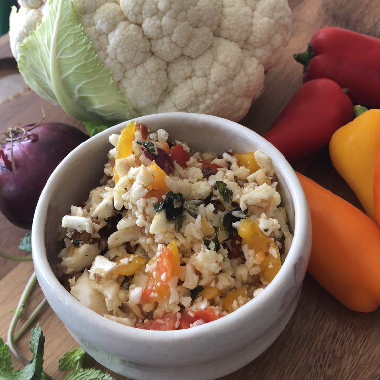 Mock Cauliflower Couscous