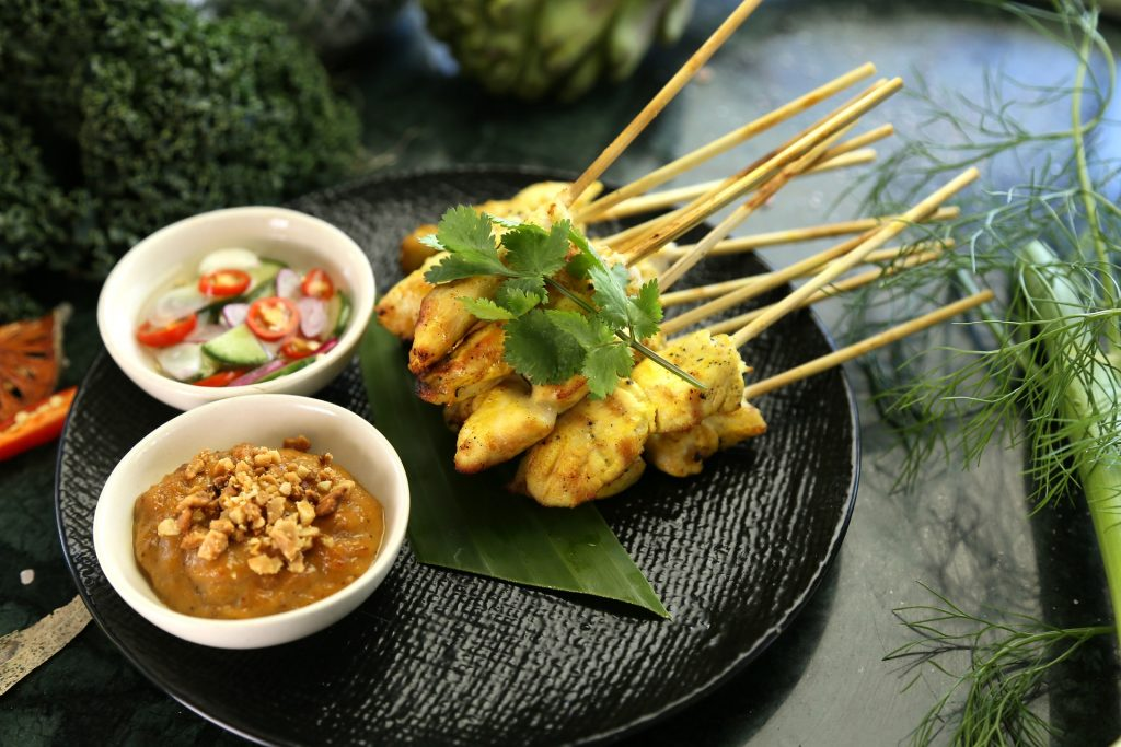 Satay Chicken, Beef or Pork